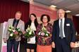 Die neuen stellvertretenden Bundesvorsitzenden mit Tagunspräsident Clever (rechts) - es fehlt Adalbert Abt