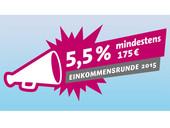 Logo des dbb zur Einkommensrunde 2015