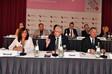 Tagungspräsidium (v.l.n.r.): Rosa Berardi, Nobert Clever (Präsident), Ralf Gehrsitz