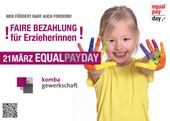 Postkarten- und Posteraktion der komba gewerkschaft zum Equal Pay Day 2014 (Layout: A.PR, Köln)