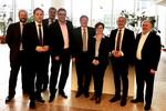 (v.l.n.r.): Mark Köhler (dbb), Jan Seidel (Bundesvorsitzender BTB), Michael Deres (BMVI), Andreas Hemsing (Bundesvorsitzender komba), Hermann-Josef Siebigteroth (Bundesvorsitzender VDStra), Tatjana Tegtbauer (BMVI), Volker Geyer (dbb-Fachvorstand Tarifpolitik) und Jürgen Kretzschmar (Bundesvorsitzender DVG) (Foto: © komba gewerkschaft)