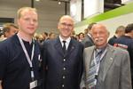 Thorsten Fuchs, Leitender Branddirektor Dirk Aschenbrenner (neuer Vize-Präsident der vfdb) und Norbert Brewer (v.l.n.r.)