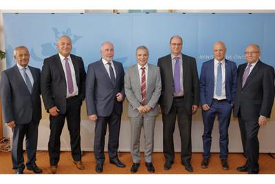 Delegation in Luxemburg (v.l.n.r.): Hans Freiler (Österreich), Marco Thome (Luxemburg), Uli Silberbach (Deutschland), Innenminister Dan Kersch, Paul Schroeder (Innenministerium), Urs Stauffer (Schweiz) und Erny Reuter (Luxemburg) (Bild: ©  FGFC, Claude Reuter)