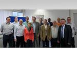 Mitglieder des komba FB Verkehrsflughäfen mit den Sitzungsleitern, v.l.n.r: