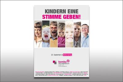 Das Plakat des Bundesfachbereiches SuE zum Weltkindertag 2017. © komba gewerkschaft
