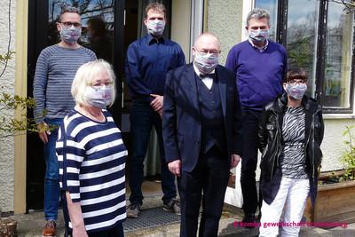 v.l.n.r. vorne: Adelheid Benzarti, Detlef Daubitz, Diana Mann; hinten: René Schley, Ralf Pröseler, Jan-Pieter Rau (Foto: © komba gewerkschaft brandenburg)