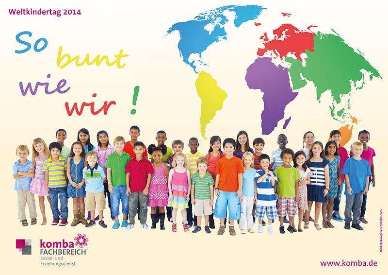 Plakat zum weltkindertag 2014